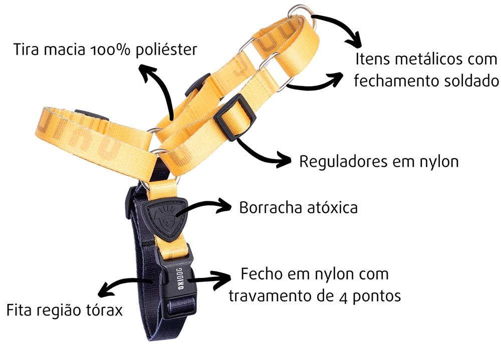 PEITORAL PARA CACHORROS OXIDOG AMARELO