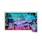 Canga Saida de Praia Retangular com Franja - Hello Summer 1,5 x 1m-CGR-0054