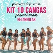 KIT 10 CANGAS RETANGULAR PERSONALIZADAS 1,5 X 1M