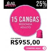 KIT 15 CANGAS REDONDAS PERSONALIZADAS 1,5 DE DIÂMETRO BLACK FRIDAY