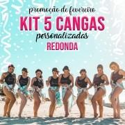 KIT 5 CANGAS REDONDAS PERSONALIZADAS 1,5 DE DIÂMETRO