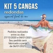KIT 5 CANGAS REDONDAS PERSONALIZADAS 1,5 DE DIÂMETRO FINAL DE ANO