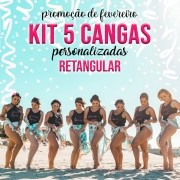 KIT 5 CANGAS RETANGULAR PERSONALIZADAS 1,5 X 1M