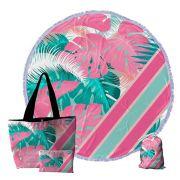 6 Kits Praia, Bolsa, Canga redonda e Necessaire 0097-COSTELA-DE-ADAO-PINK
