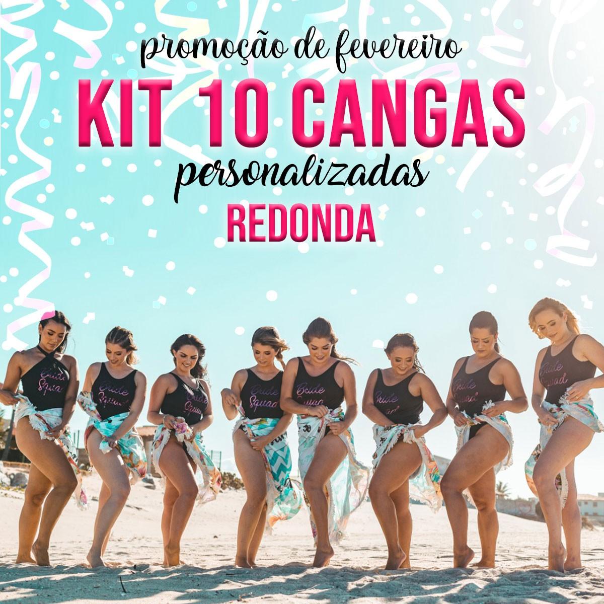 KIT 10 CANGAS REDONDAS PERSONALIZADAS 1,5 DE DIÂMETRO