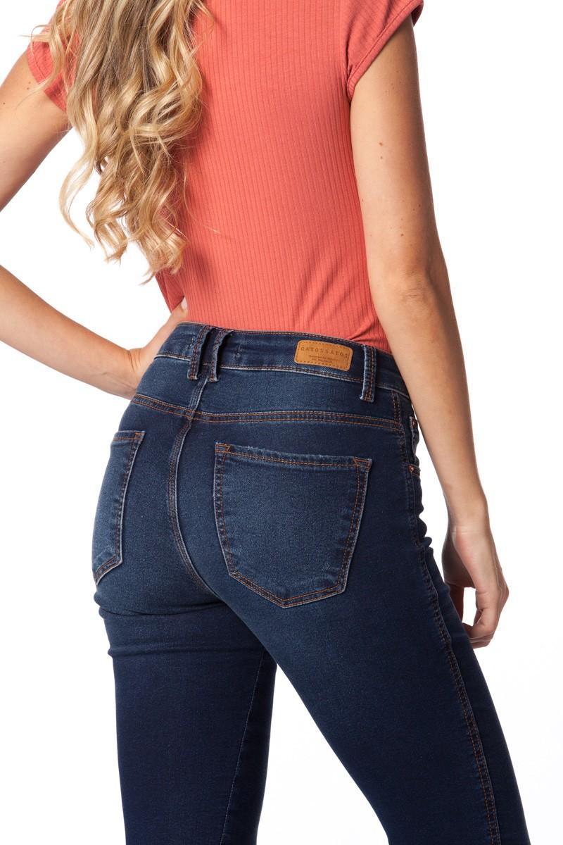 calça moletom jeans skinny  Gatos e Atos