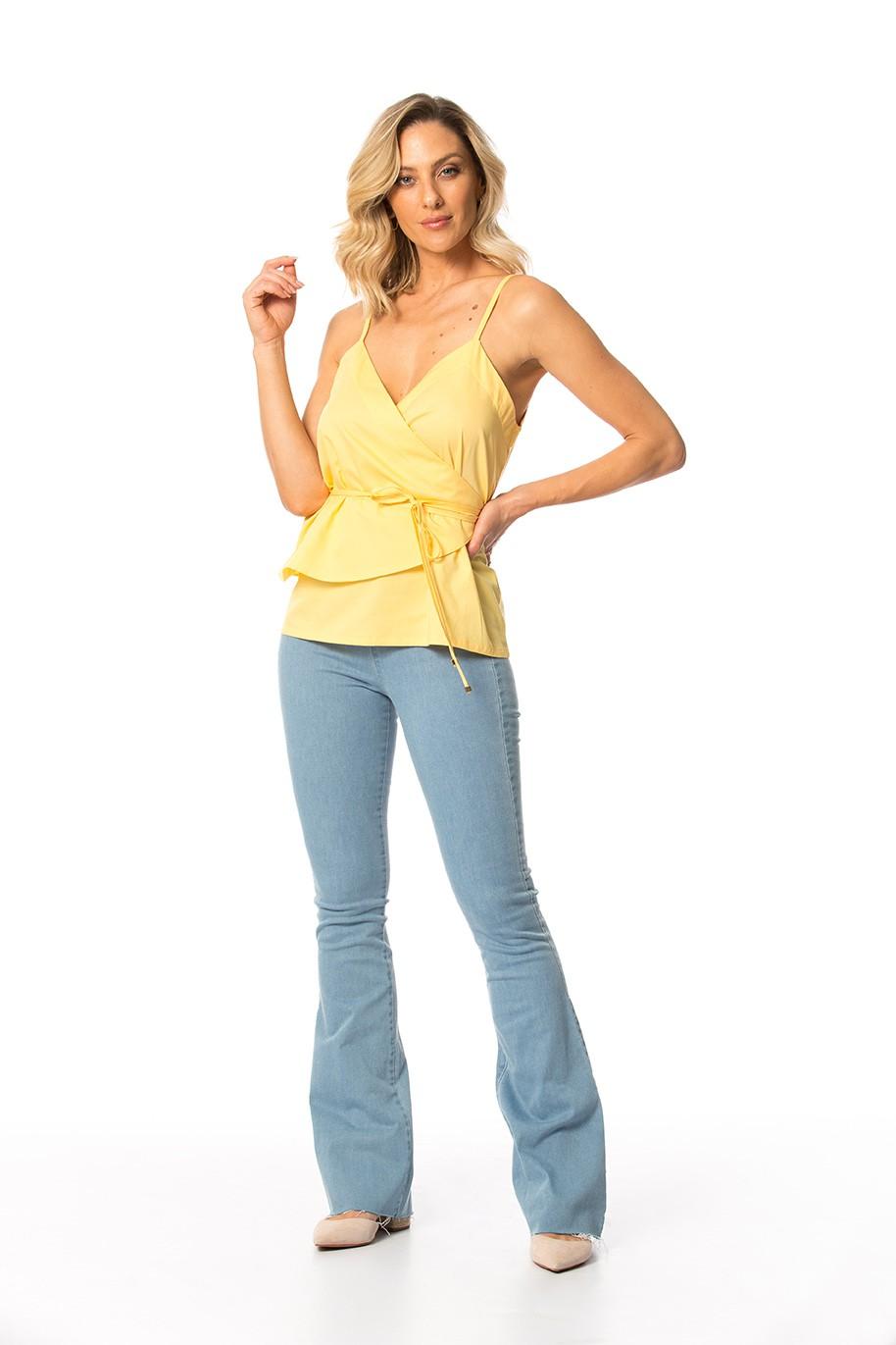 jegging jeans flare c/ elastano cós médio Gatos e Atos