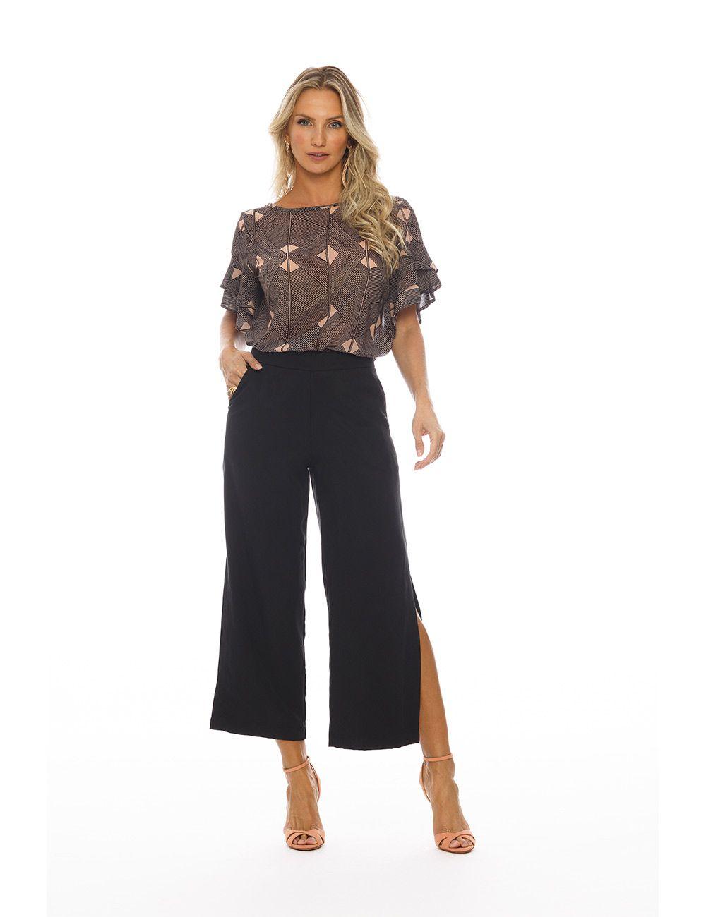 pantalona lyocell peletizado cós médio