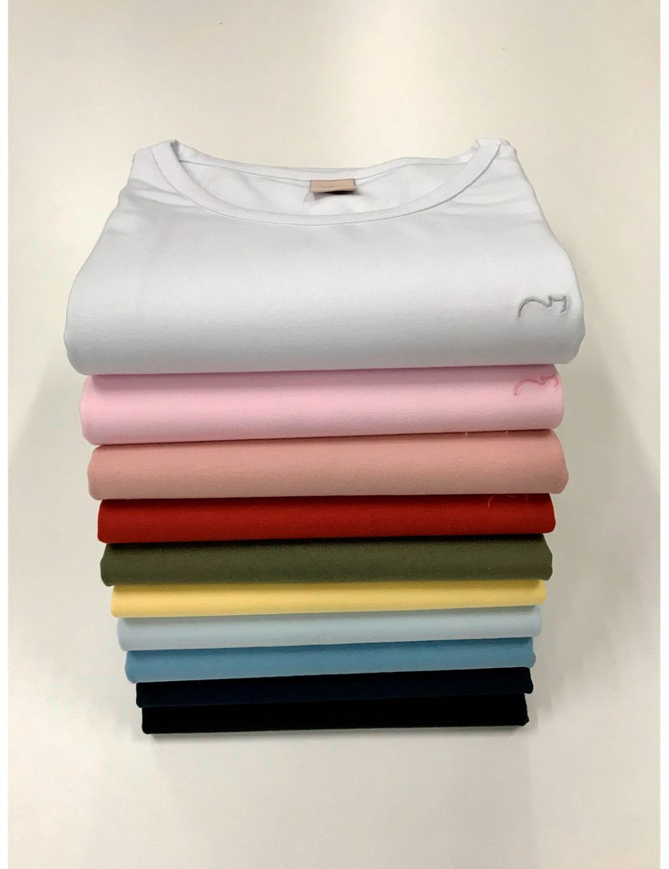 T-shirt cotton comfort c/ elastano Gatos e Atos