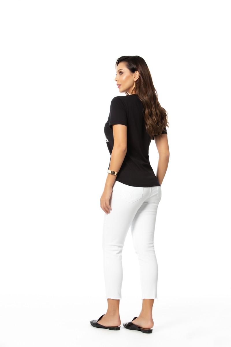 T shirt Cotton Comfort com Elastano Gatos e Atos