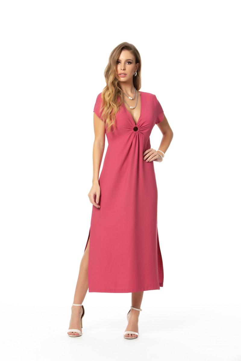 Vestido Alfaiataria Venice Viscose Mista Gatos e Atos