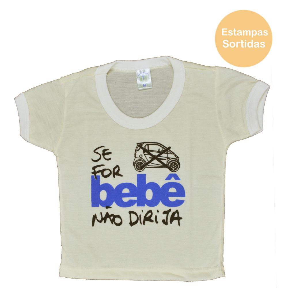 Blusa PV de Bebê Bege Masculina Estampas Sortidas (P/M/G)