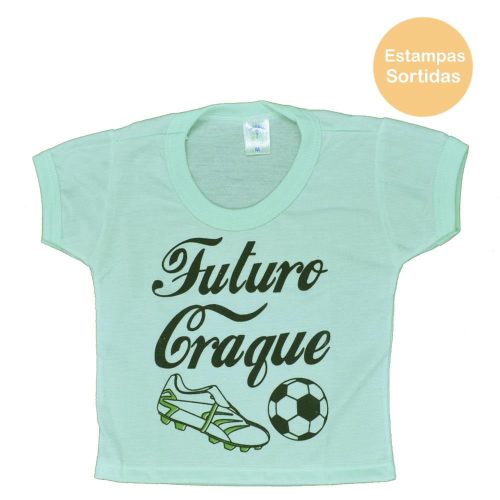Blusa PV de Bebê Verde Masculina Estampas Sortidas (P/M/G)
