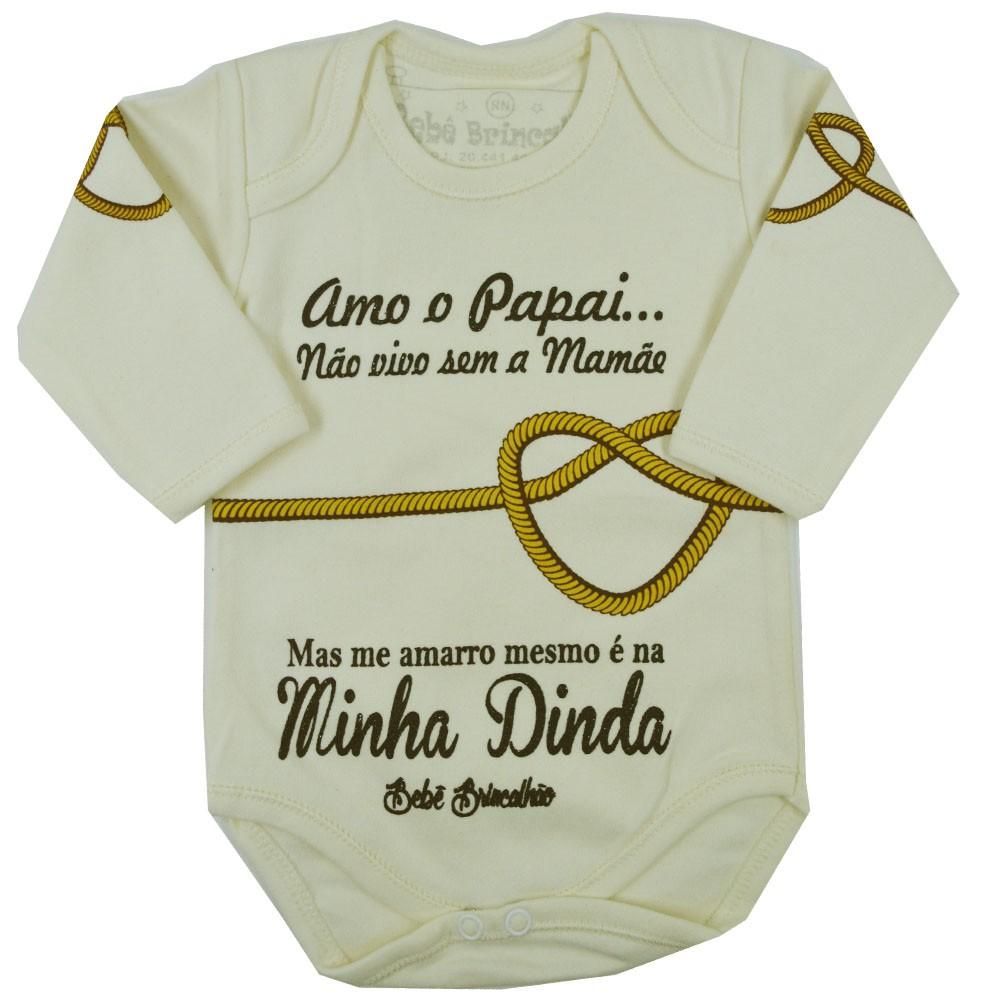 Body Bebê Brincalhão Me Amarro na Dinda ML RN ao G
