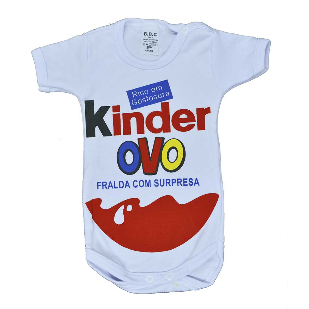 Body Manga Curta Kinder Ovo (P/M/G)