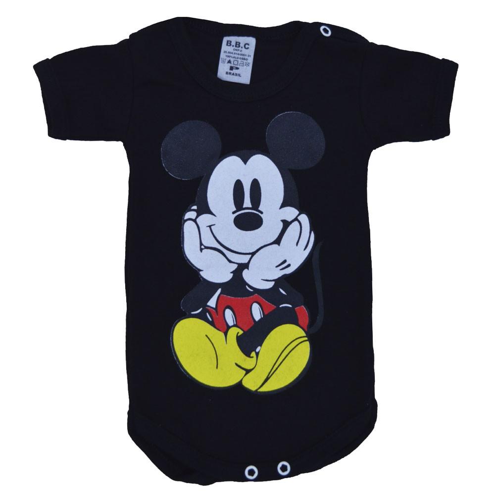 Body Manga Curta Mickey (P/M/G)