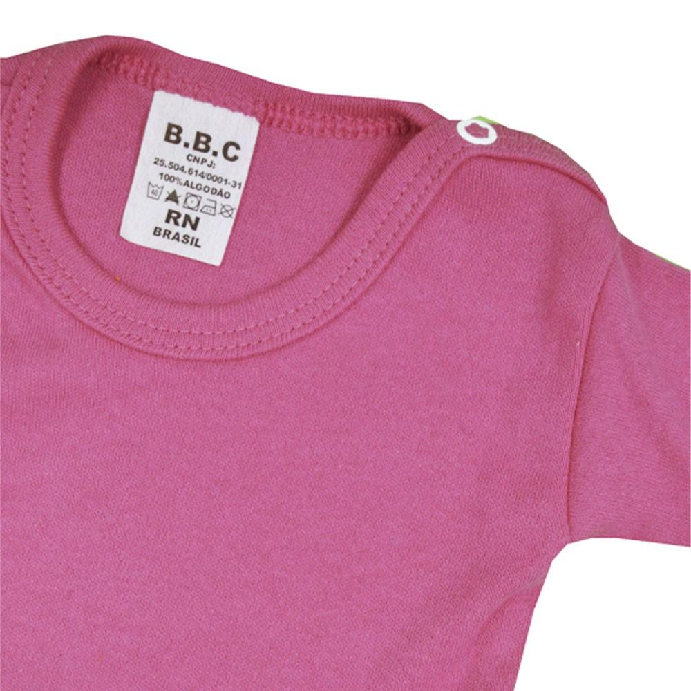 Body Manga Curta Rosa Pink Liso RN ao GG