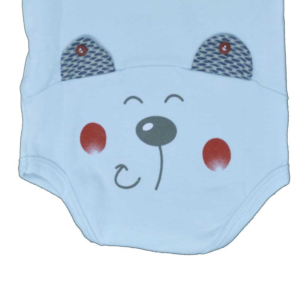 Body Manga Curta Surf Baby Azul (RN/P/M/G/GG)