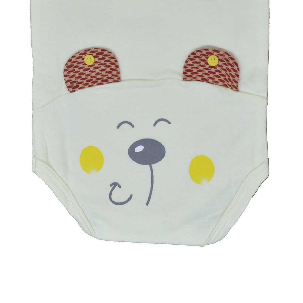Body Manga Curta Surf Baby Bege (RN/P/M/G/GG)