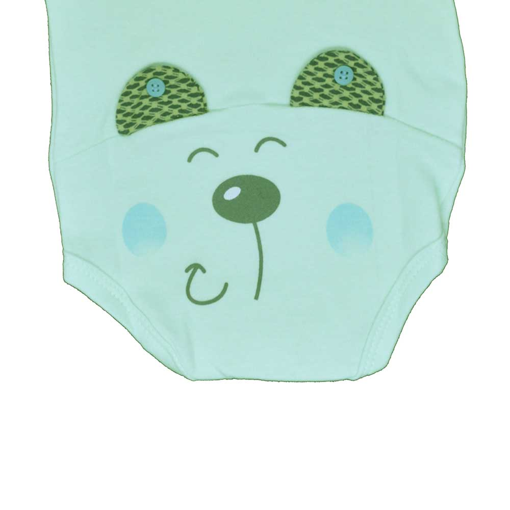 Body Manga Curta Surf Baby Verde (RN/P/M/G/GG)