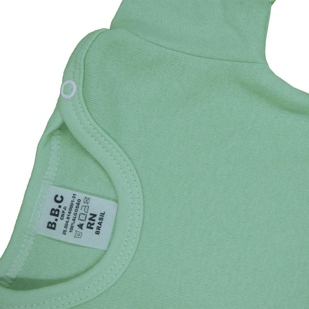 Body Manga Curta Verde Liso (RN/P/M/G/GG)