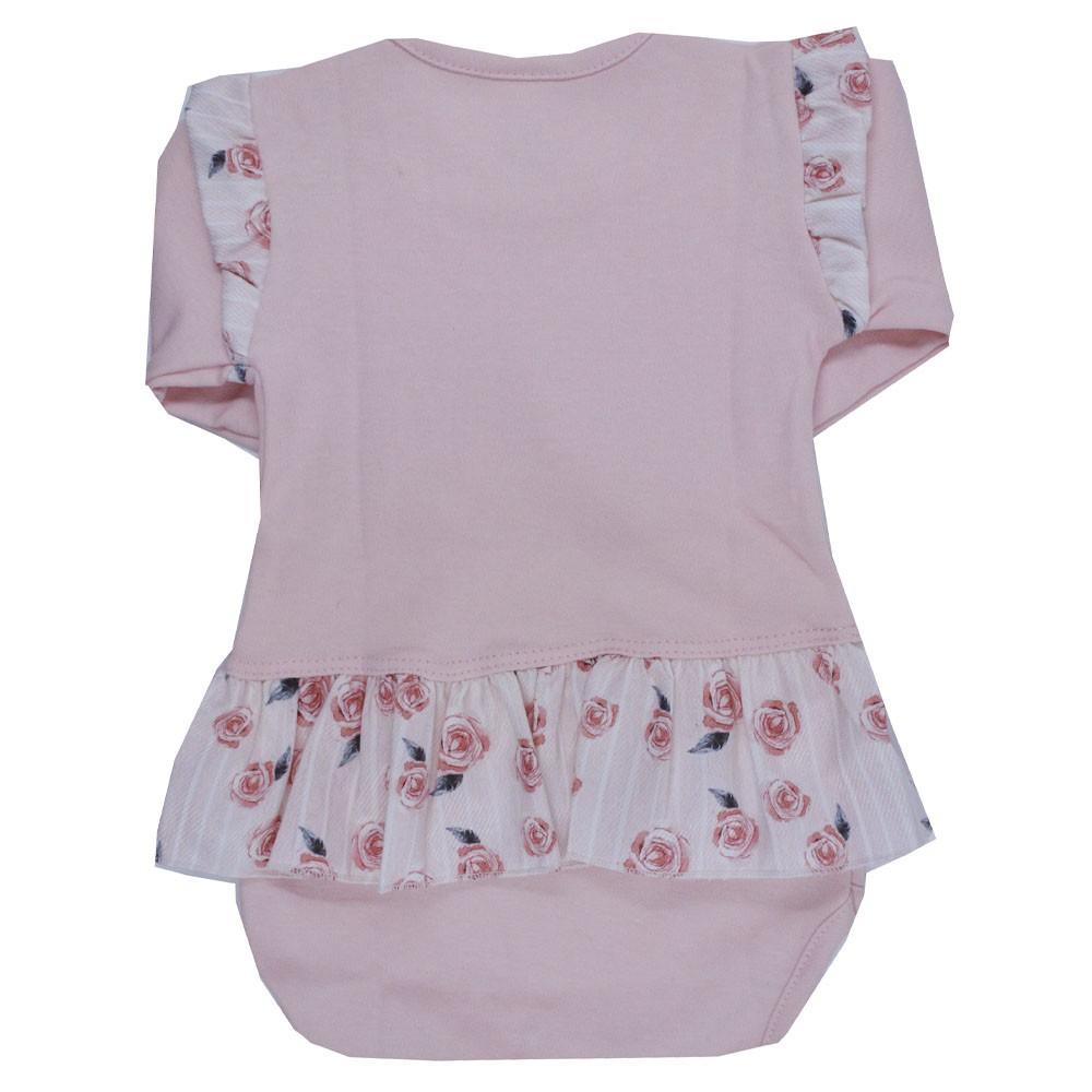 Body Manga Longa Patimini Baby Love Coral P ao G