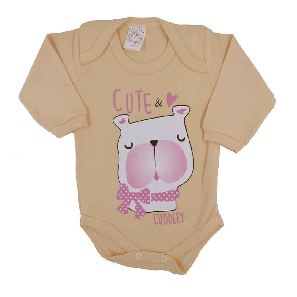 Body Manga Longa Petutinha Dog Cute (P/M/G)