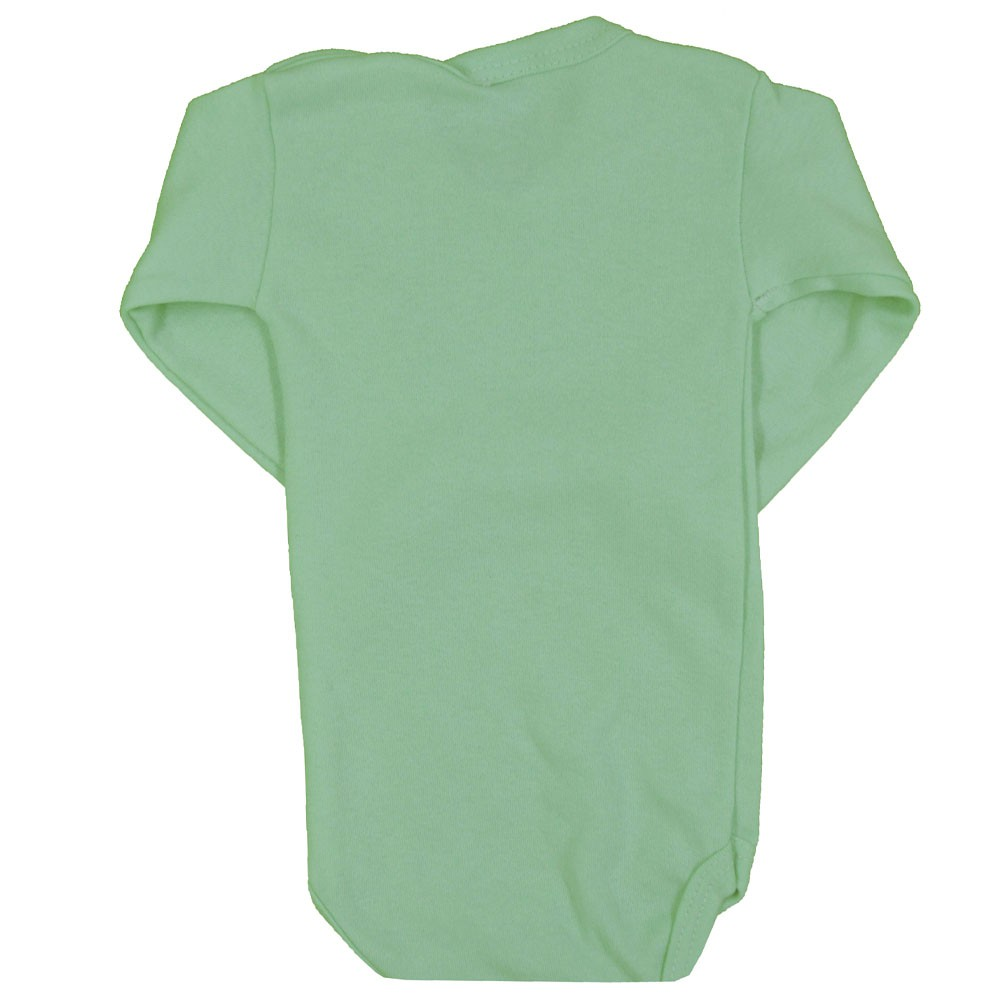 Body Manga Longa Verde Liso RN ao GG