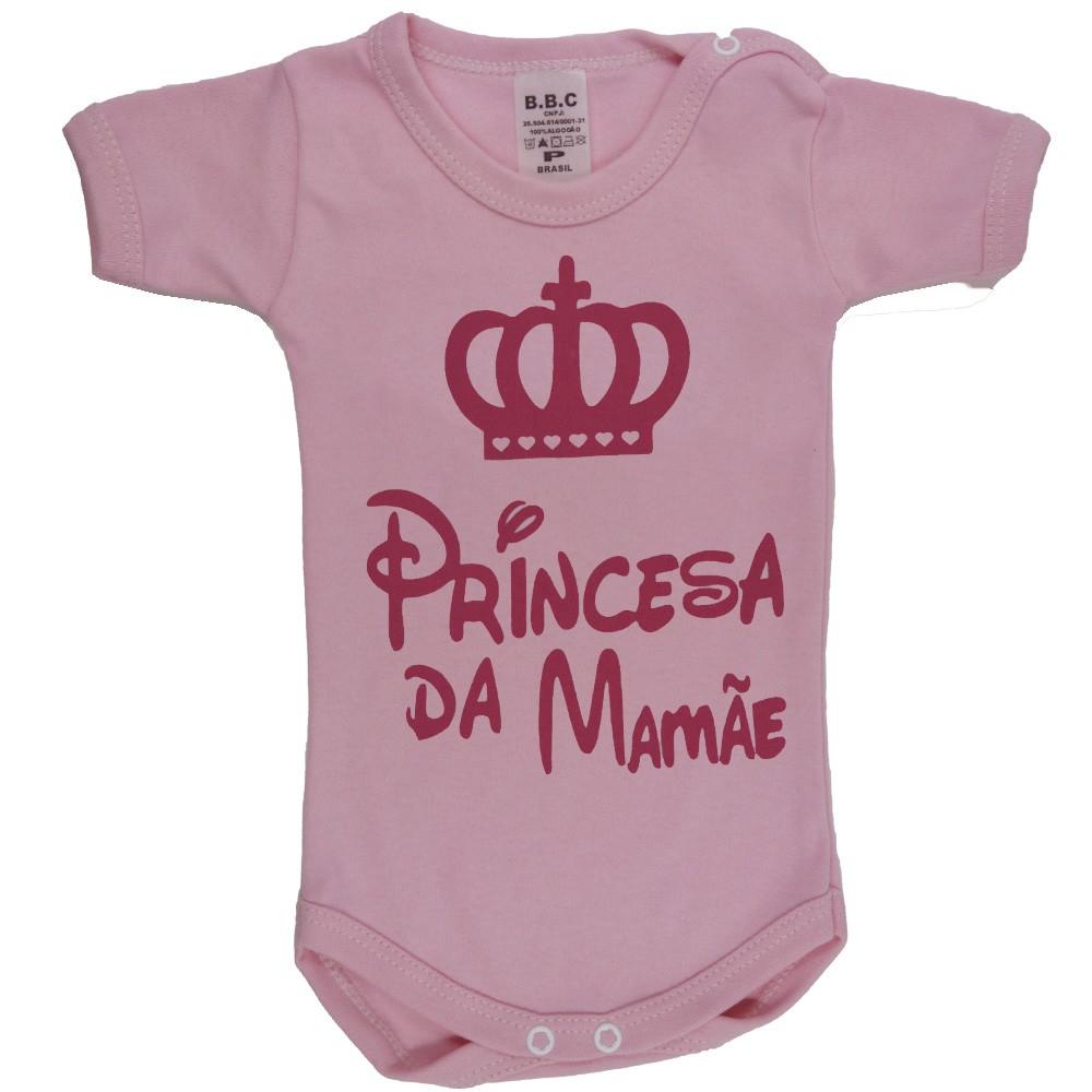 Body Princesa da Mamãe P ao G