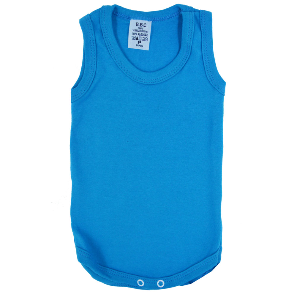 Body Regata Liso Azul Celeste (P/M/G/GG)
