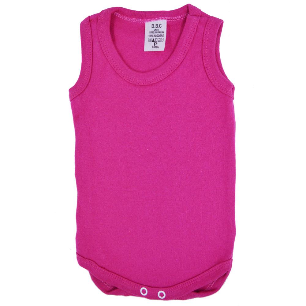 Body Regata Liso Rosa Pink (P/M/G/GG)