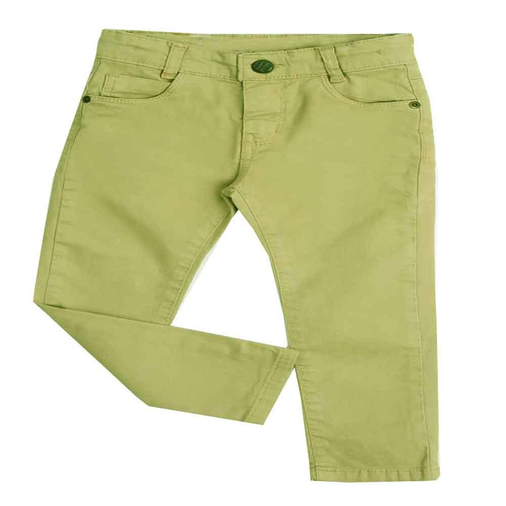 Calça de Sarja Infantil Bege Paparrel 1 ao 3