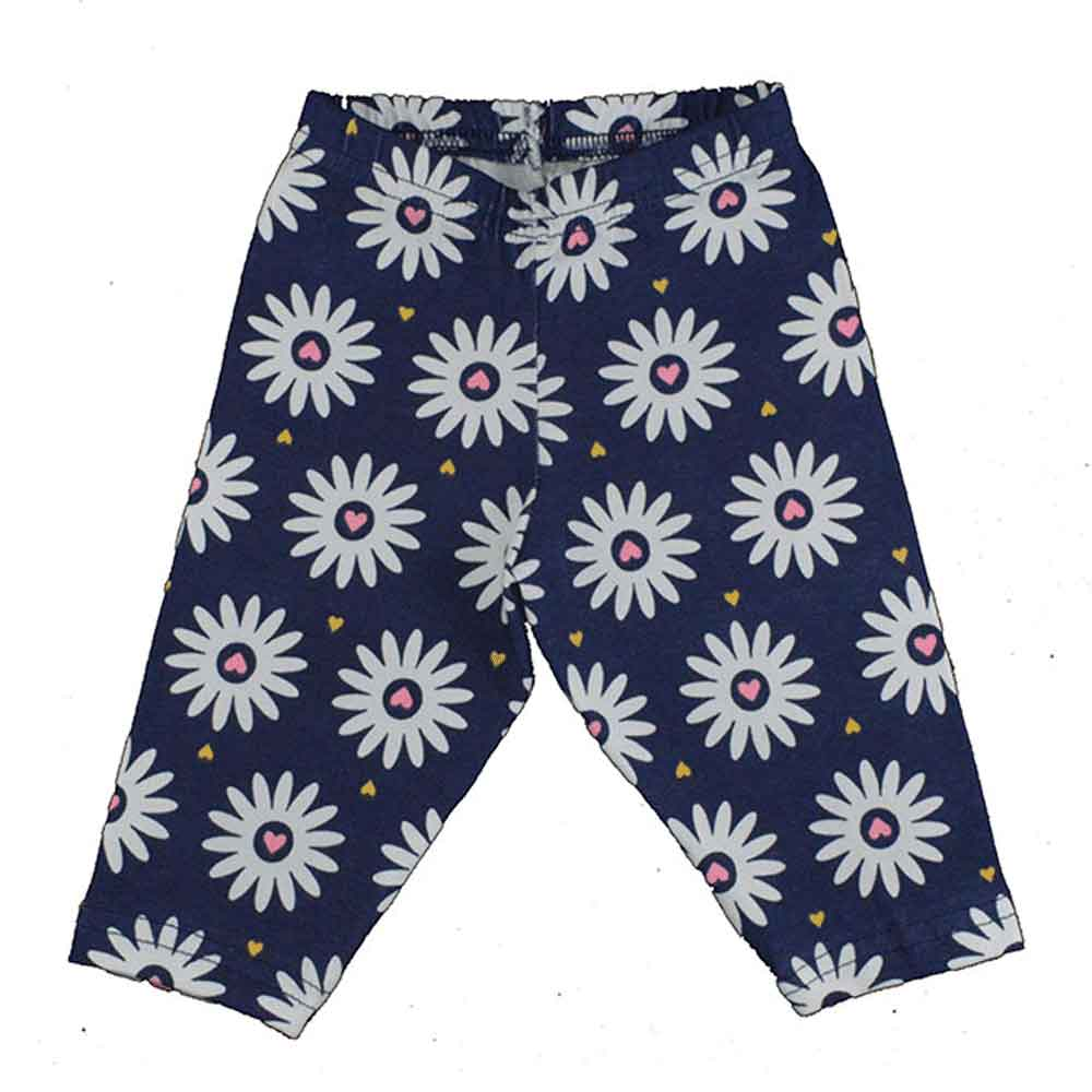 Calça Legging Infantil Flores