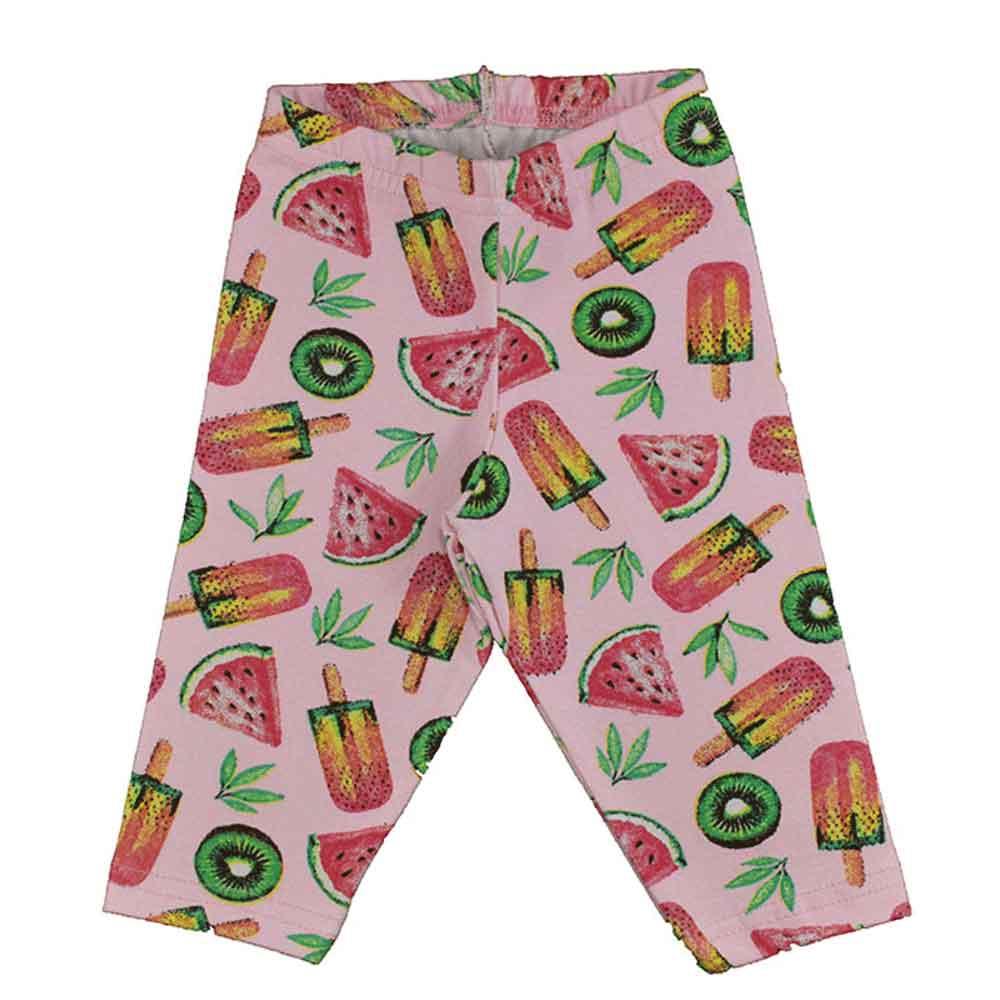 Calça Legging Infantil Frutas