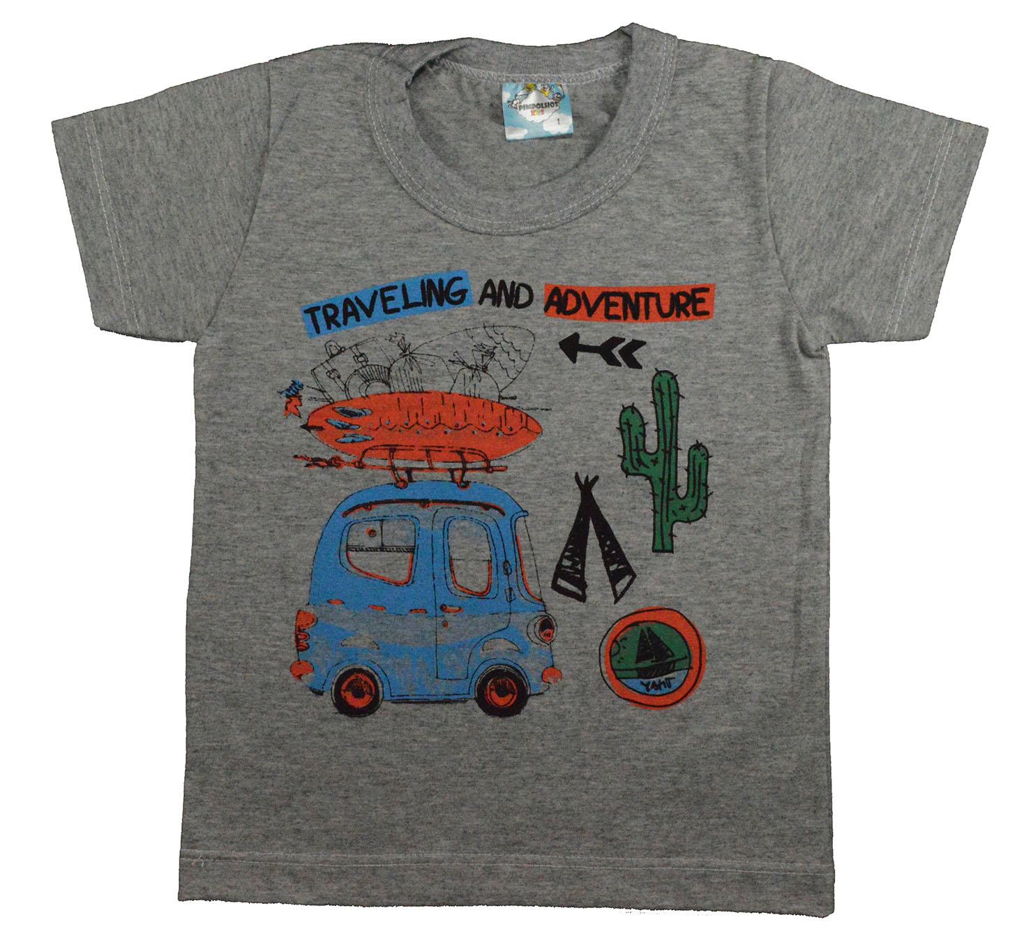 Camisa Infantil Adventure Cinza