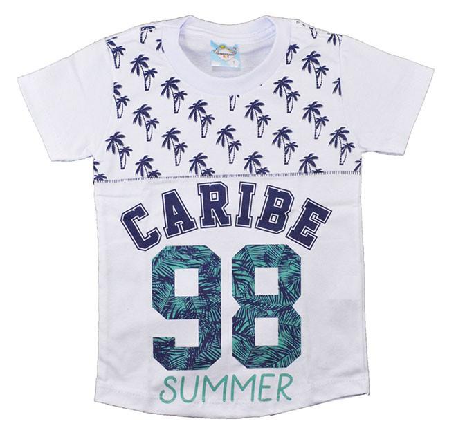 Camisa Infantil Caribe Branco
