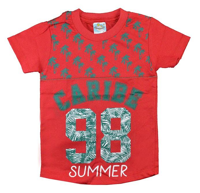 Camisa Infantil Caribe Vermelho