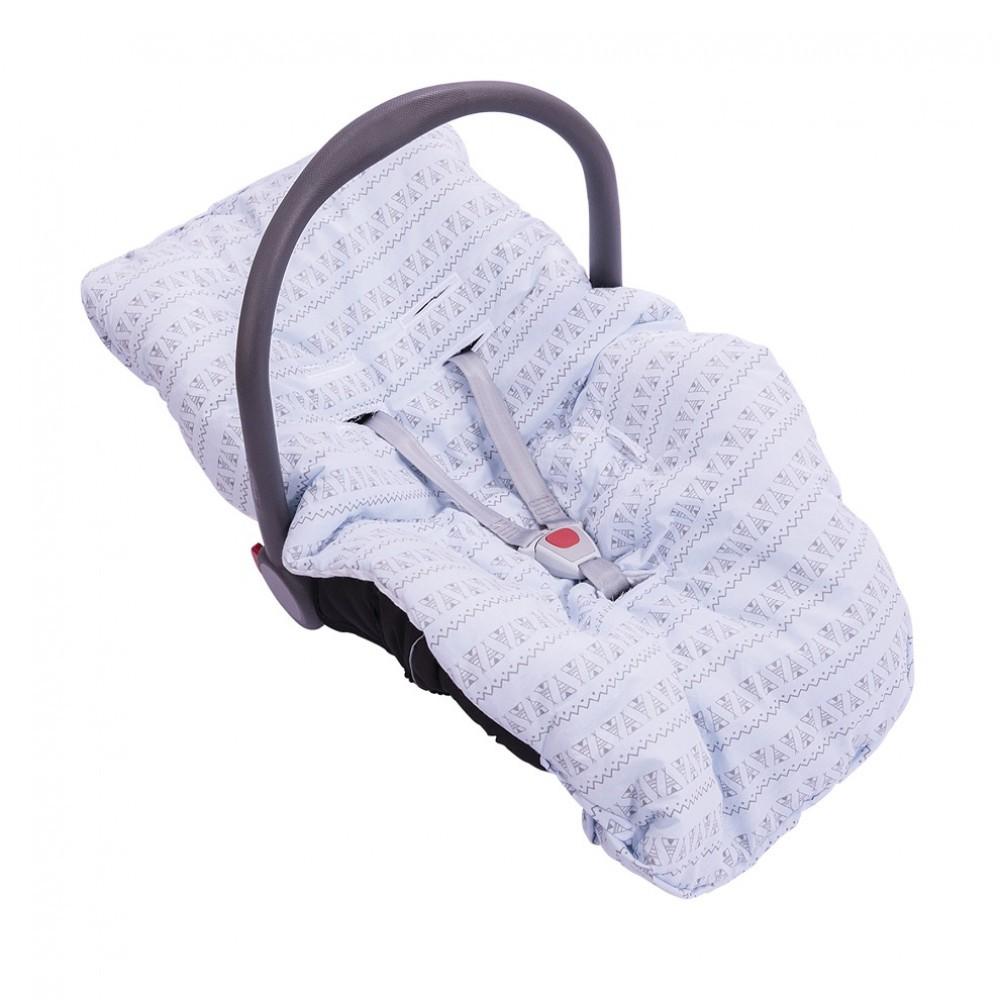 Capa para Bebê Conforto Dupla Face Azul
