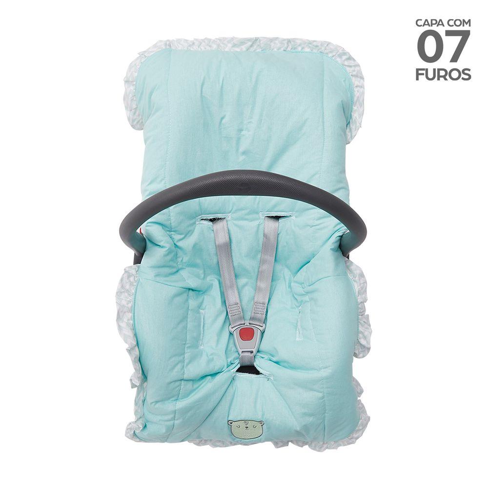 Capa para Bebê Conforto com Babado Verde