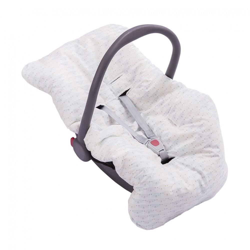 Capa para Bebê Conforto Dupla Face Verde Unissex