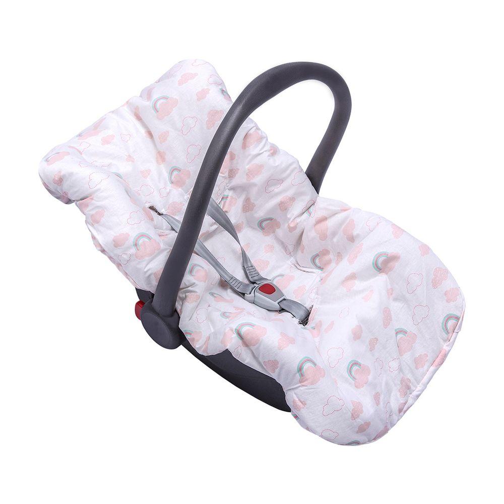 Capa para Bebê Conforto Dupla Face Rosa