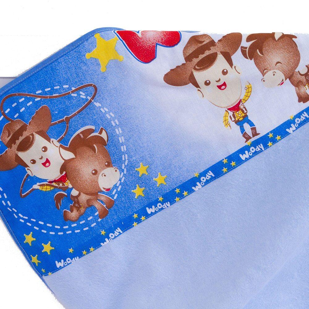 Cobertor de Bebê Flanelado Estampado Woody