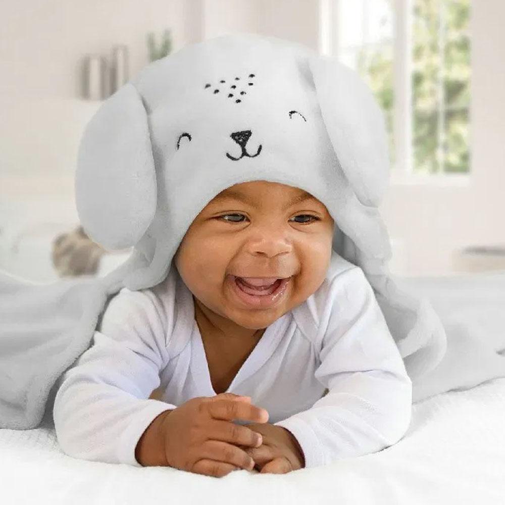Cobertor de Bebê Microfibra com Capuz Papi