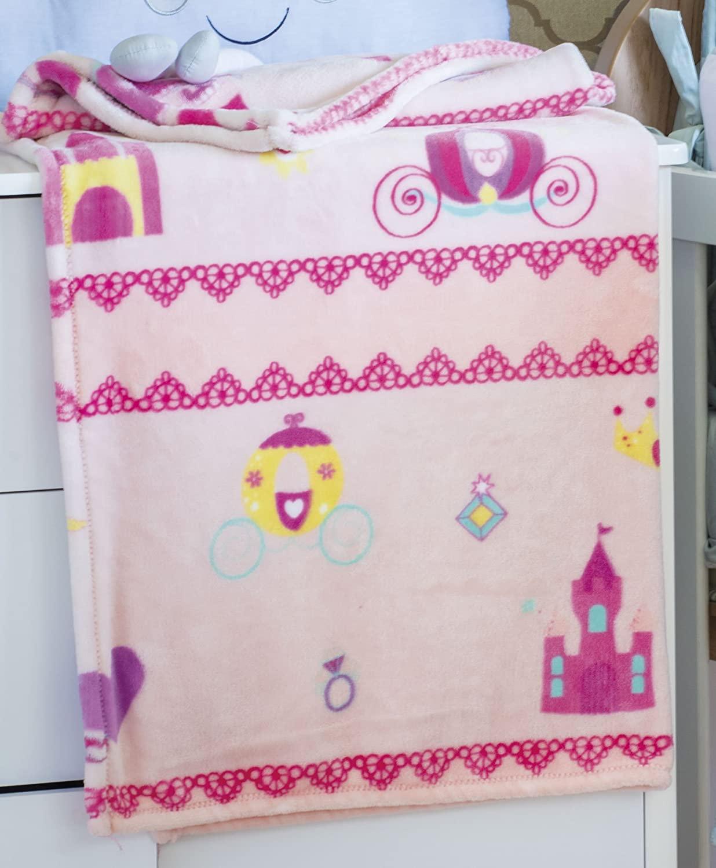 Cobertor de Bebê Microfibra Plush Rosa Jolitex