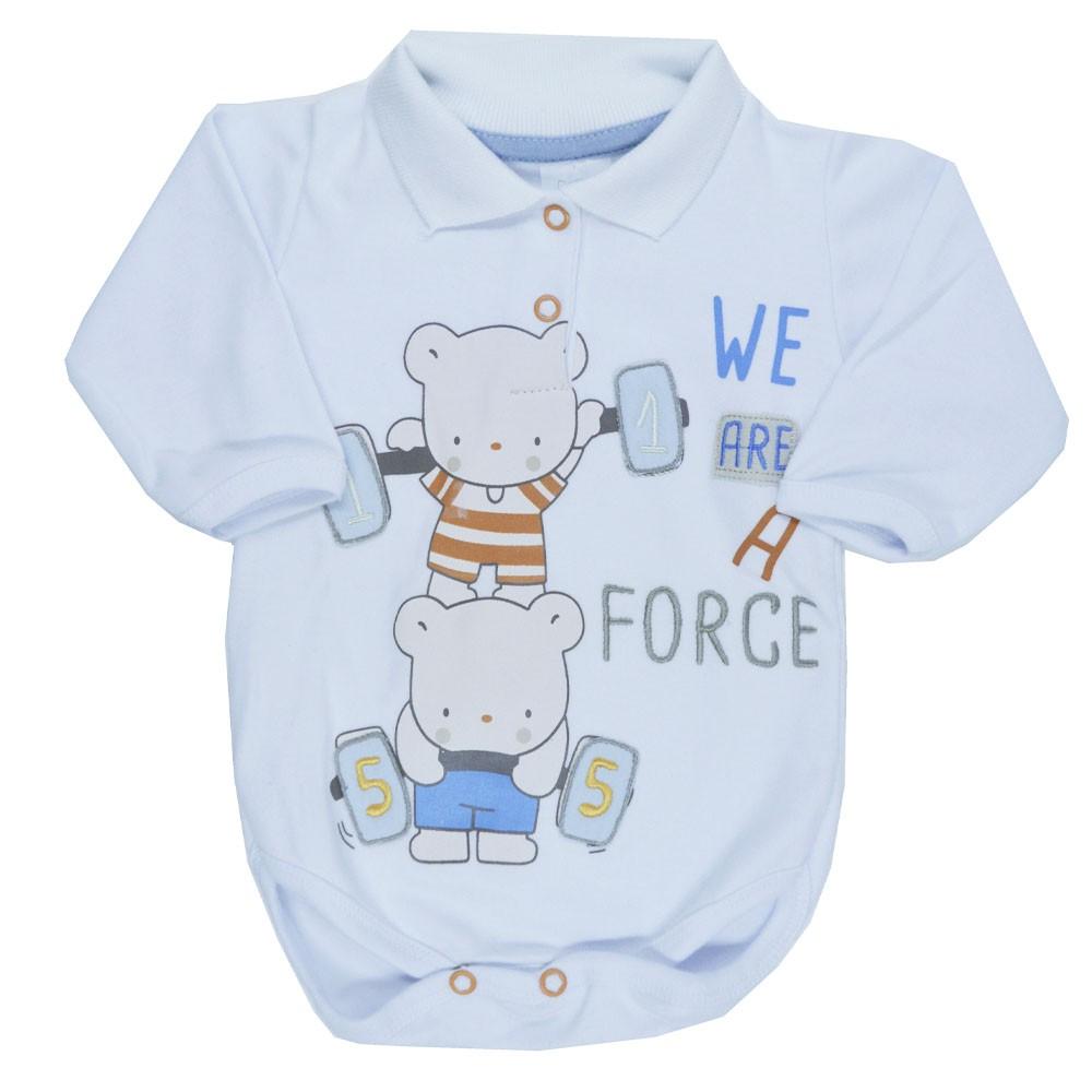 Conjunto Body e Calça Patimini Branco Gola Polo Urso RN ao GG
