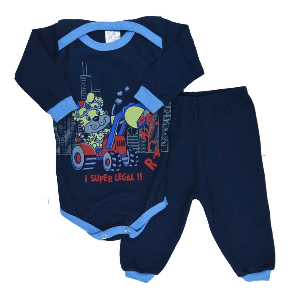 Conjunto Body e Calça Tigre Azul Marinho (P/M/G)