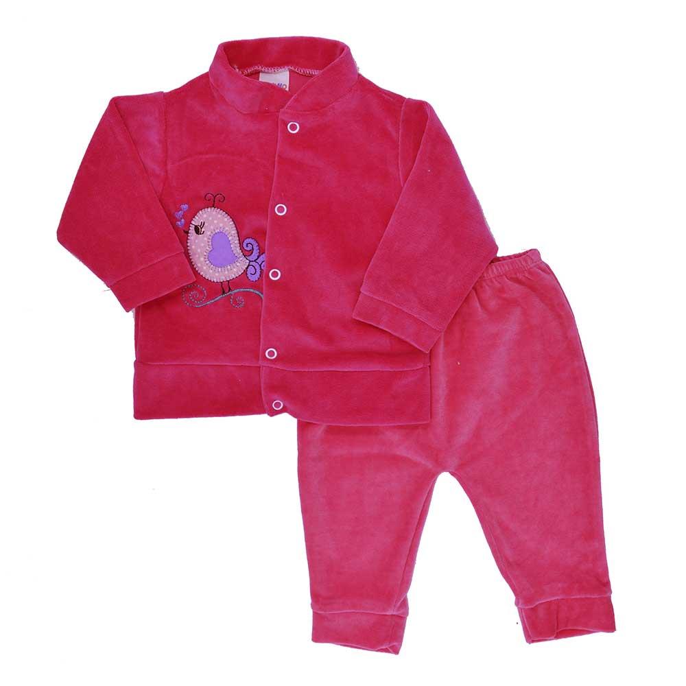 Conjunto de Bebê Plush Rosa Pink (P/M/G)