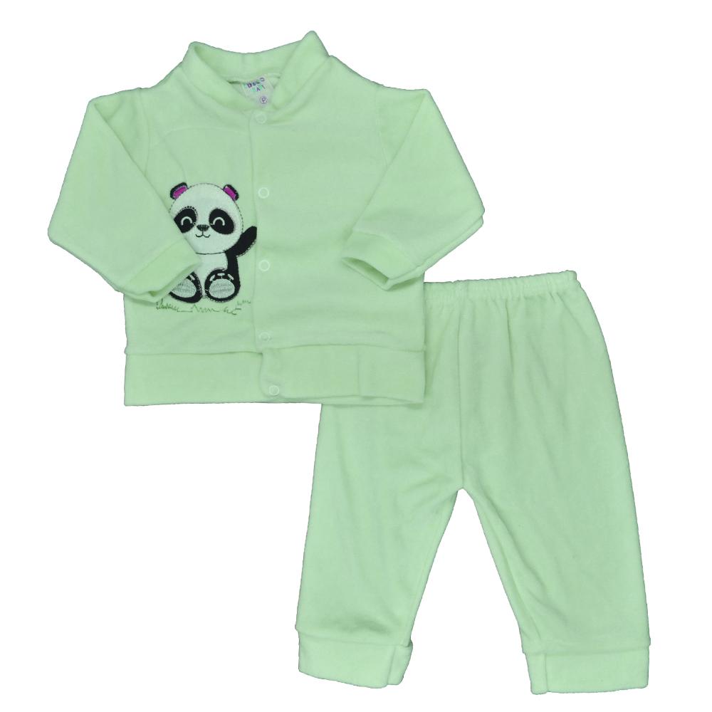 Conjunto de Bebê Plush Verde Água Unissex (P/M/G)