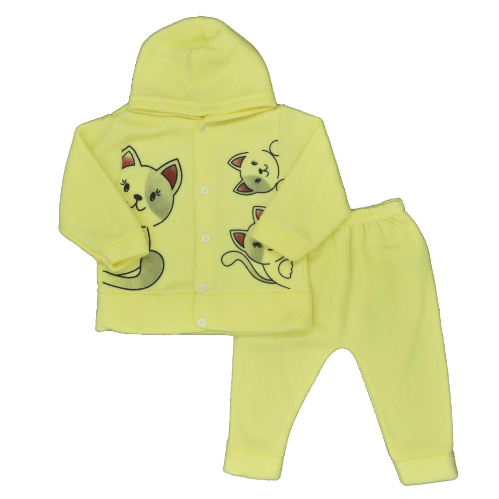 Conjunto de Bebê Soft Amarelo (P/M/G)