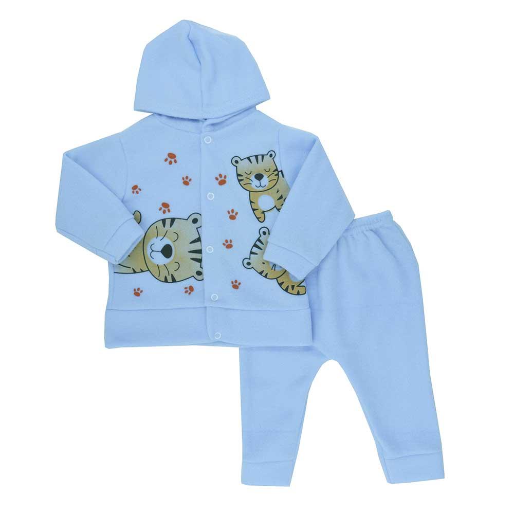 Conjunto de Bebê Soft Azul (P/M/G)